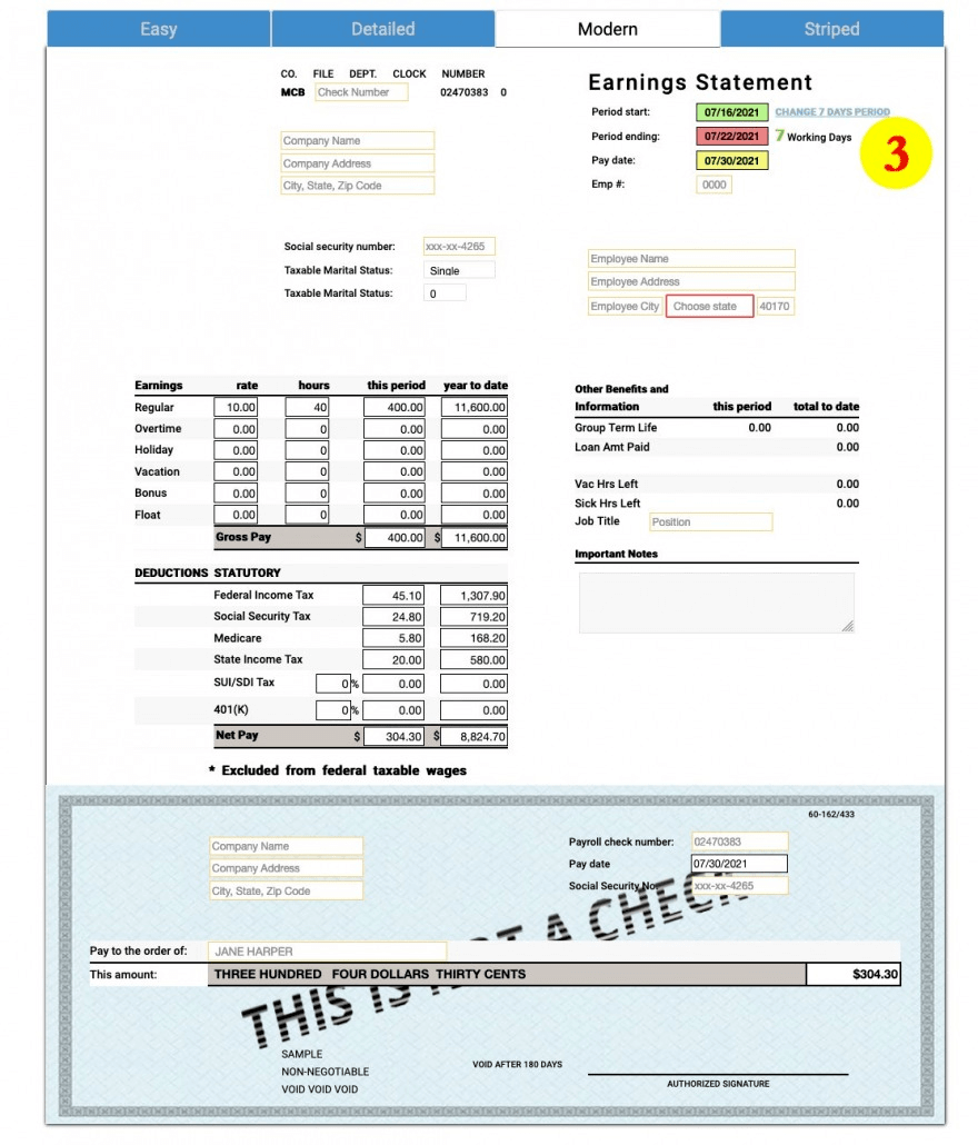Use our template to calculate your paystub